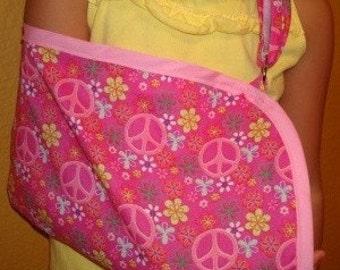 Pink Peace Child's Arm Sling