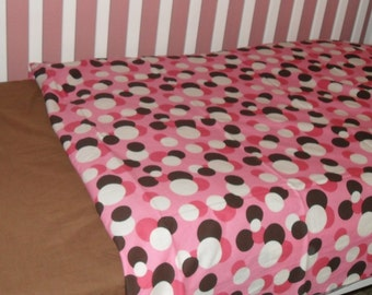 Pink and Brown Dots on Dots