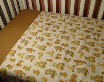 My Teddy Bears Crib/Toddler Blanket and sheet set