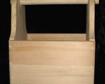 Toy Wood Tool Box Just Right Size-Solid Wood