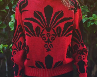 Tropical Palm Sweater