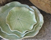 Nasturtium Leaf Porcelain Dish