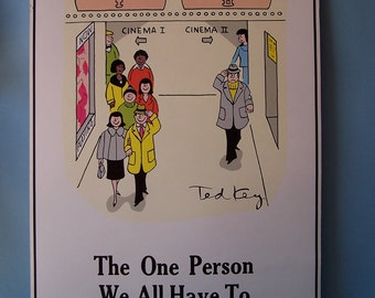 Vintage Positive Attitude Poster No. 401, The One Person We All Have To Please Is The Customer.  by Ted Key