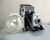 Vintage Polaroid Land Camera 80 w/ Flash Unit, Light Meter, Manual and other Product Literature