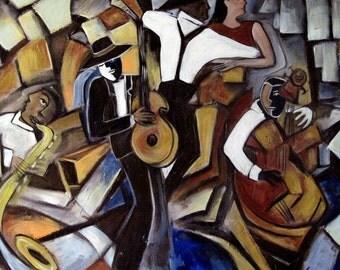 Street Jazz giclee