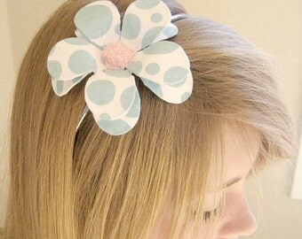 Soap Bubble Daisy Paper Mache Headband