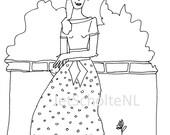 50's lady illustration.
