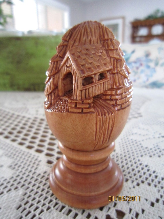 Items similar to relief carved egg covered bridge on etsy