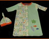 Surf Baby Sack Gown Newborn to 6 Months