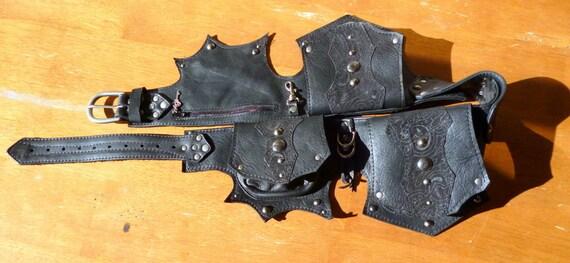 Black Leather Hip Belt Bag