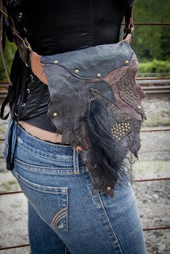 Leather Hip Belt Bag Shoulder Bag Sporran