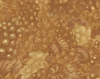 Bottled Poetry Gold Grapes - Wilmington Prints - 2/3 yard