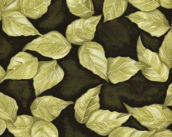 Rose Whisper Leaves - Clothworks - Closeout Sale - 1 yard - More Available - Must Go