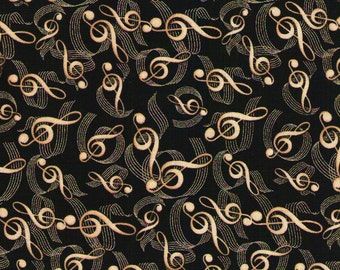 Classical  Musical Notes - Timeless Treasures - 1 yard - More Available - BTY
