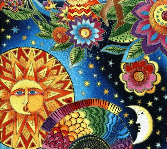 New celestial dreams laurel burch sale half yard for Celestial fabric by the yard