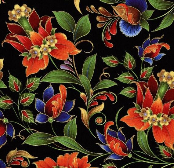 Kiev Large Floral - Elizabeth Studio - 1 yard - More Available