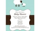 Custom Listing for Deb - Modern Lamb Baby Shower Invitation