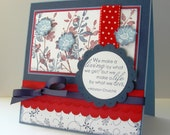 Red, White, and Blue Greeting Card with Winston Churchill Quote