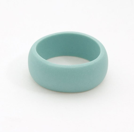 Guerrero Porcelain  Simple Ring Band - Turquoise