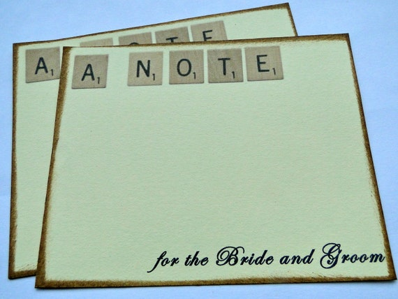 "Reserved for Sheila Lindberg (sheilalindberg) - Wedding Guest Book Alternative Cards - Set of 35 - Scrabble ""Amy"" Cards"
