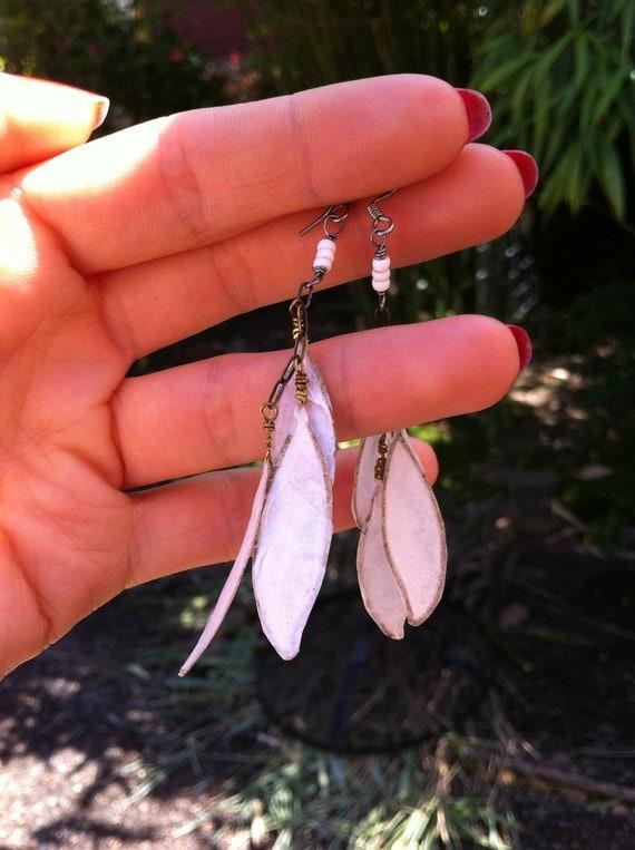 Paper Leaf earrings