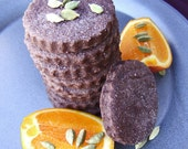 Chocolate Orange Cardamom Shortbread - Rich, Buttery and a touch exotic