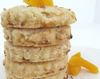 Apricot Saffron Shortbread  - Full of Flavor and Fruit! - Perfect for Mother's Day - Tea/Coffee Lovers or your favorite Foodie!