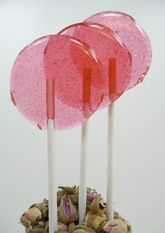 Honey Rosewater Cardamom Lollipop - pretty and a perfect expression of love - Pink weddings and events