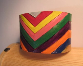Multi-Color Leather Cuff