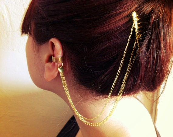 Gold Chain Ear Cuff