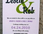 Bold Names Wedding Invitation - Sample
