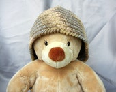 Crochet Cloche Cotton Brown Tan Gray Adult Size