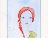 Just Be Yourself PRINT from my original watercolor painting