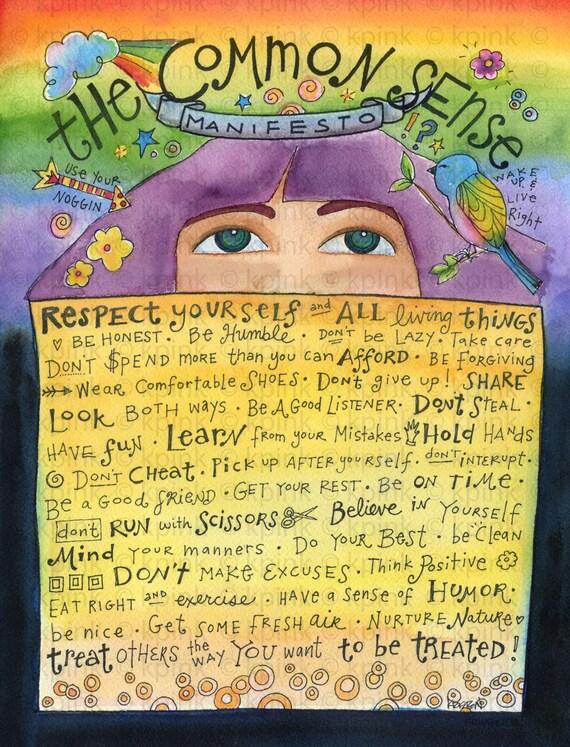 The Common Sense Manifesto art print from my original illustration
