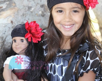 Fabulous Children's Crochet hat AND matching doll hat