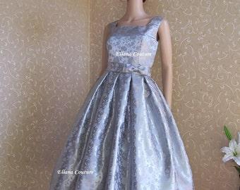 Rosette - Vintage Inspired Tea Length Wedding Dress.