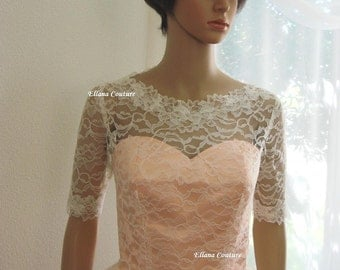 Isabella - Retro Inspired Tea Length Wedding Dress.