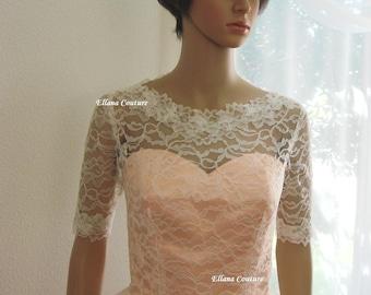 Isabella - Retro Inspired Tea Length Wedding Dress.