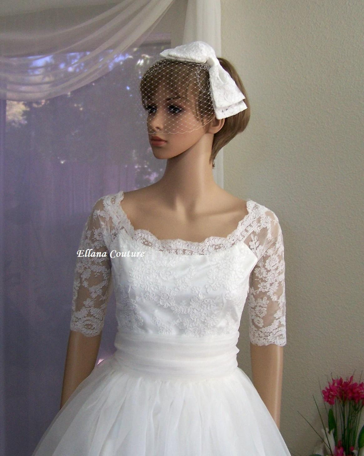 PLUS SIZE Leila Vintage Inspired Wedding Dress by
