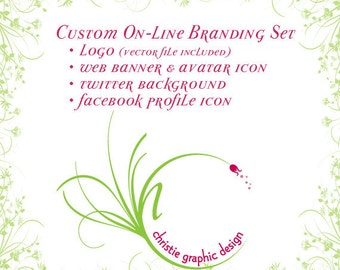 Custom Graphic Design On-Line Branding Package