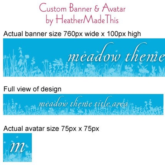 Blue Meadow Etsy Banner and Avatar Theme