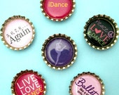 I Love Dance Bottle Cap Magnet Set