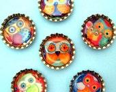 Handmade Bottlecap Magnets - Lauren Alexander Owls