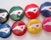 State Pride - 1 Inch Button Magnets - Set of Eight Button Magnets