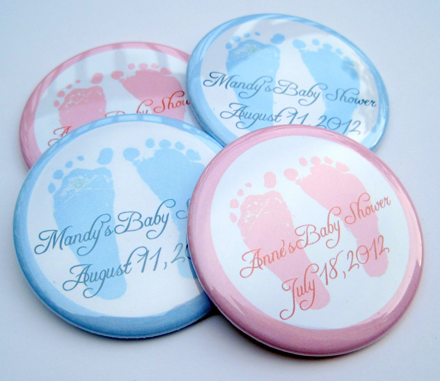 baby shower favors baby feet 30 by stucktogethermagnets on etsy