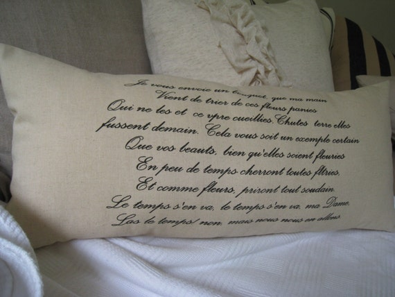 French Love Letter Pillow