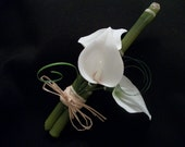 Ready To Ship: Exotic Bamboo and Lily Boutonniere