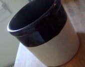 Antique Brown and White Crock