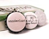 Interchangeable Bottle Cap Necklace - Wanderlust