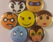 MC The Watchmen Pin Back Button Set (7 Pack)